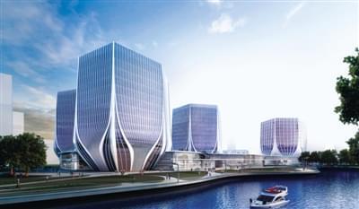 中部国际设计中心,由世界著名建筑设计师设计,将建成郑州航空港区