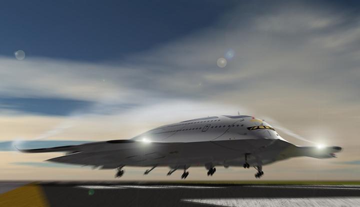 概念飞机:核聚变供能,酷似太空飞船
