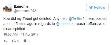 疑似Twitter正在清除网友发布的美联航负面评价