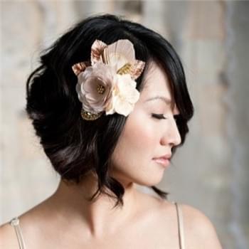 韩式短发新娘造型