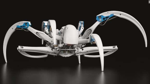德公司推仿蜘蛛机器人:能爬行,还能变成圆筒滚动
