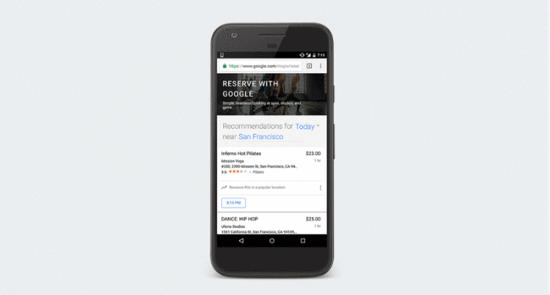 谷歌地图现在可以允许用户预订新利APP课程