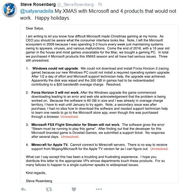 明尼苏达州一用户因微软设备无法运转写信给纳德拉的照片 - 2