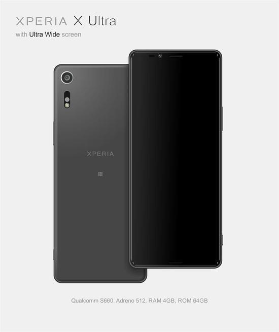 传闻中的索尼Xperia X Ultra:21:9的全面屏手机