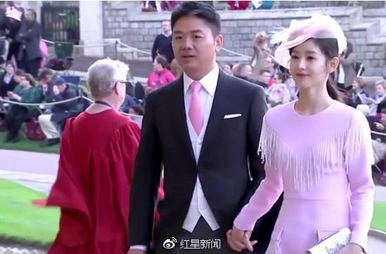 刘强东携夫人参加英国尤金妮公主婚礼 图据《南华早报》