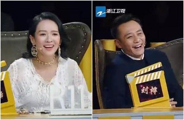 章子怡、刘烨在台下笑翻。
