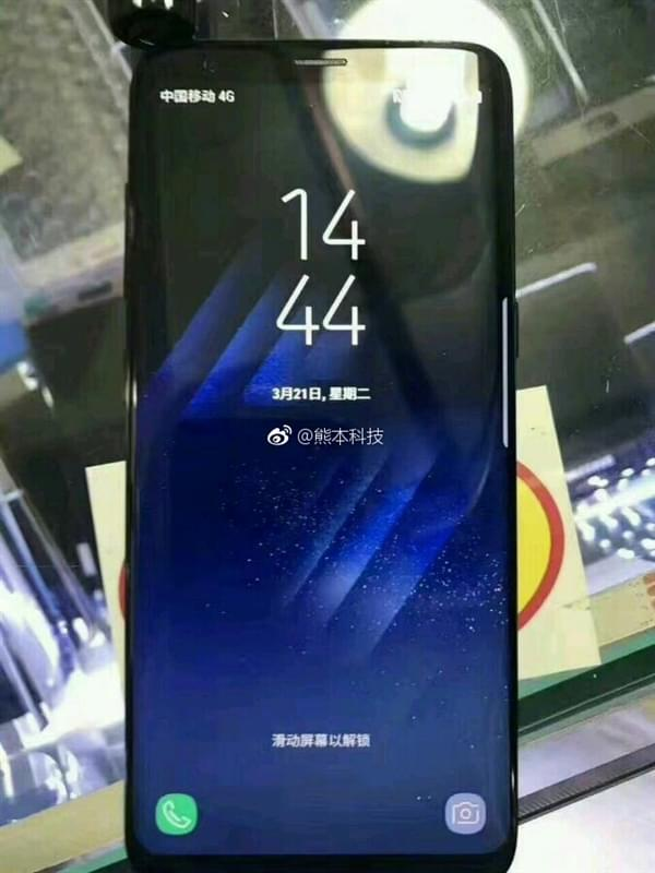 三星Galaxy S8国行真机现身:亮屏那刻很震撼的照片 - 1