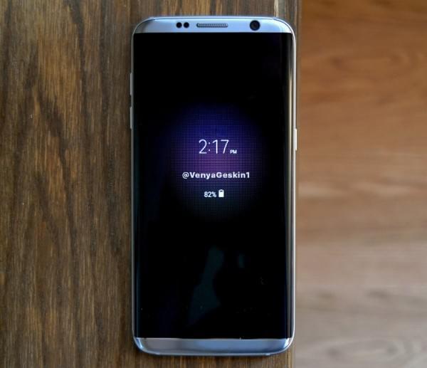 三星Galaxy S8渲染图再曝光 显示Always-On功能的照片 - 2