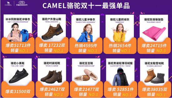 骆驼以5.36亿问鼎双十一鞋服七连冠 top1爆品撑起半边天