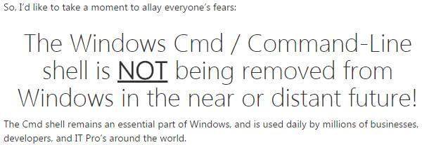微软解释MS-DOS命令提示符并不会很快消亡的照片 - 2