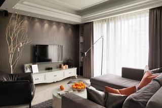 客厅装修,射灯筒灯,吊顶线条,客厅空间,小户型装修,青岛吊顶