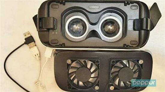 脑洞大开的设计!VR眼镜竟上散热风扇