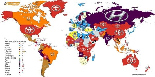 丰田竟然是Google搜索最多的汽车品牌