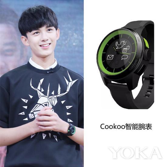 吴磊佩戴Adidas腕表(艺人图片来源于吴磊粉丝微博)