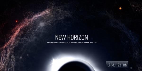 AMD重量级活动预告:12月13日首次预览ZEN架构处理器的照片
