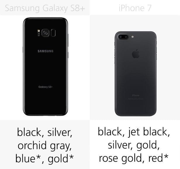 Galaxy S8+和iPhone 7规格参数对比的照片 - 5