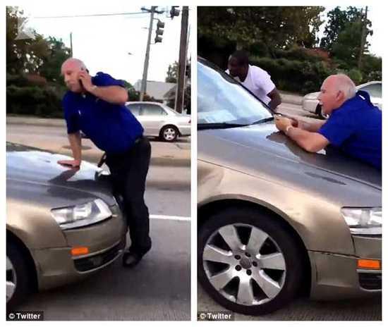 女司机怒挥千斤顶砸大巴 见老人报警三次狠命撞翻