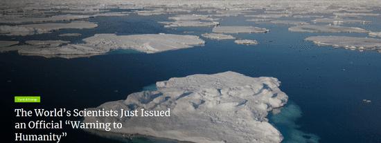 1.5万名科学家向人类发出正式警告 环境危机迫在眉睫