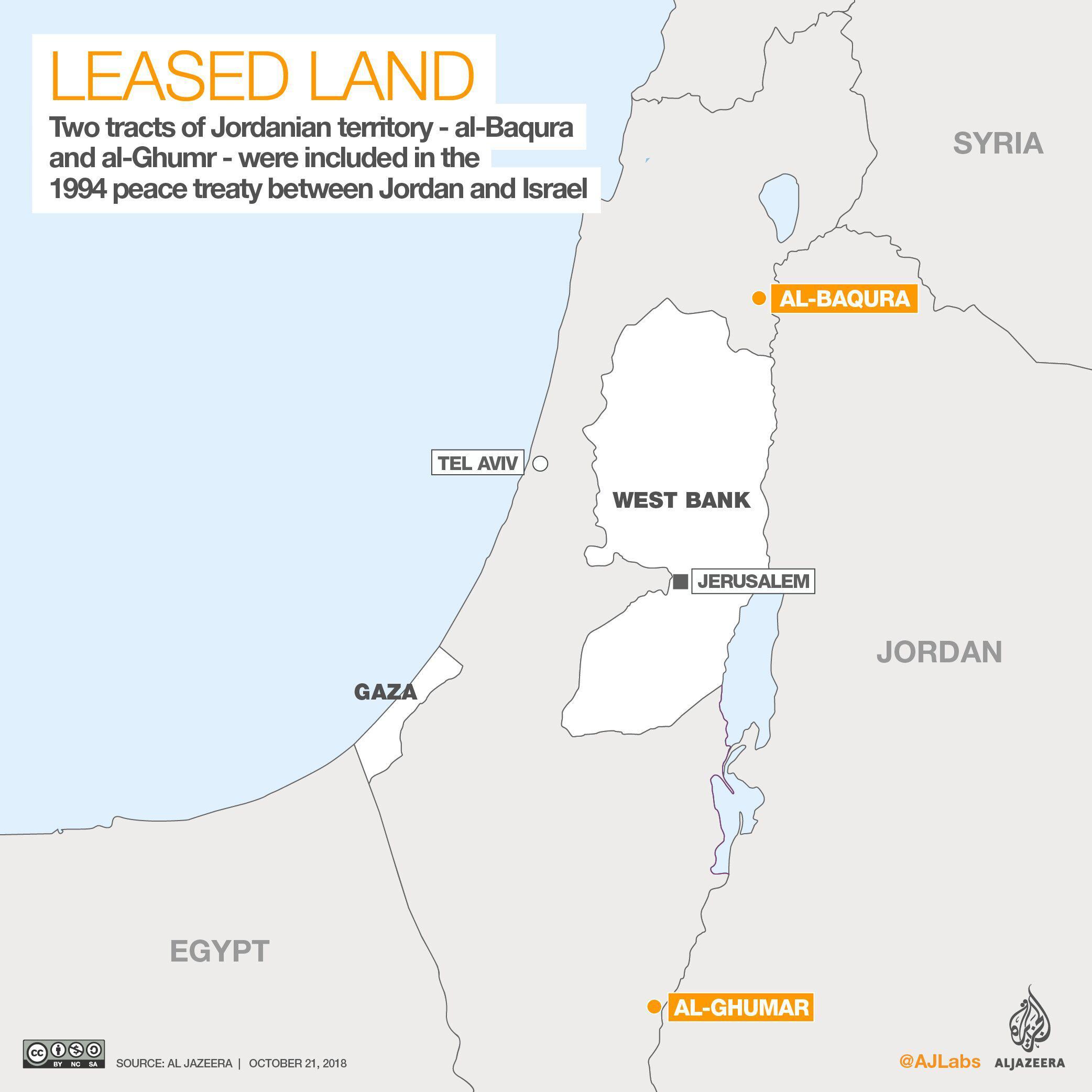 """约旦要收回24年前""""借""""给以色列的土地 以总理:谈谈"""