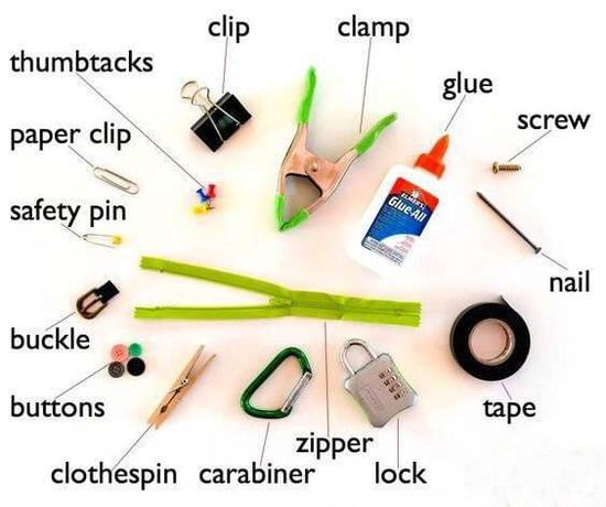 图解国外生活中常用的物品英语单词 超适用!