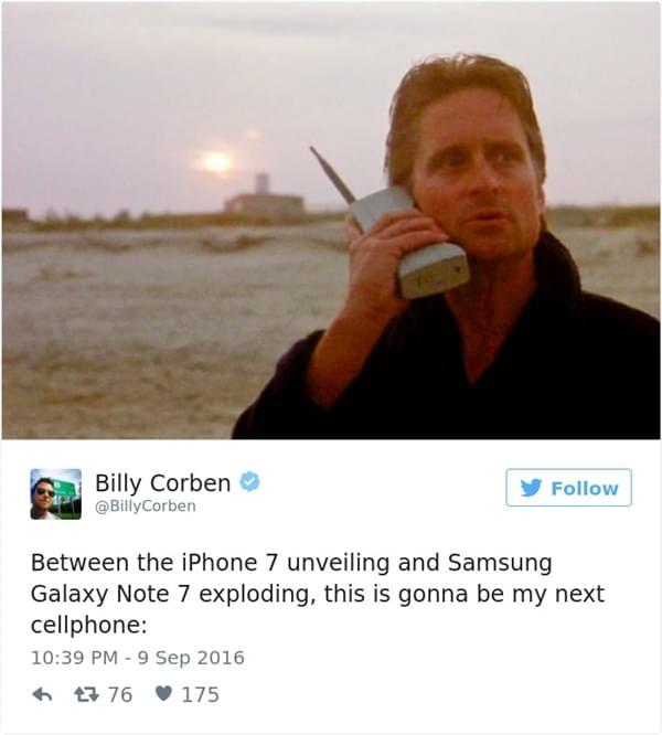Note 7电池爆炸事件频发 全球网友奋力恶搞的照片 - 7
