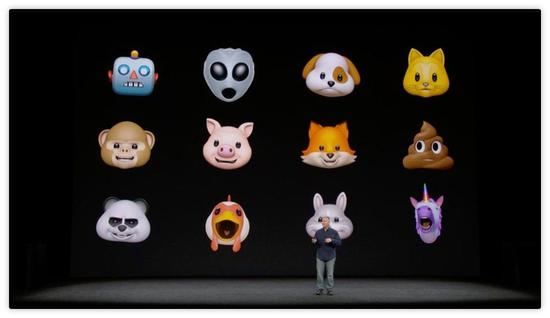 苹果发布Animoji动画表情包:能够跟踪你的表情
