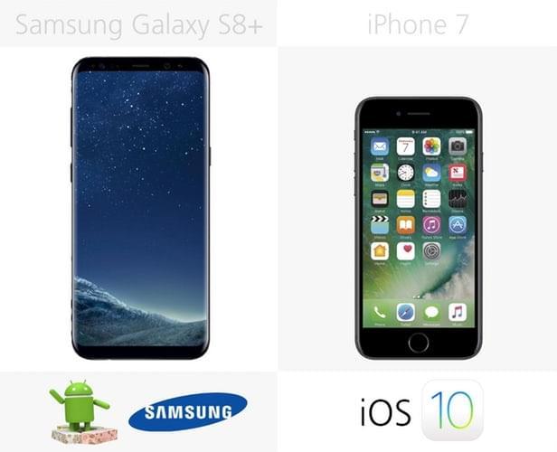 Galaxy S8+和iPhone 7规格参数对比的照片 - 34