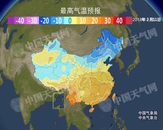 下周全国将迎大回暖 除夕前江南最高温升至20℃