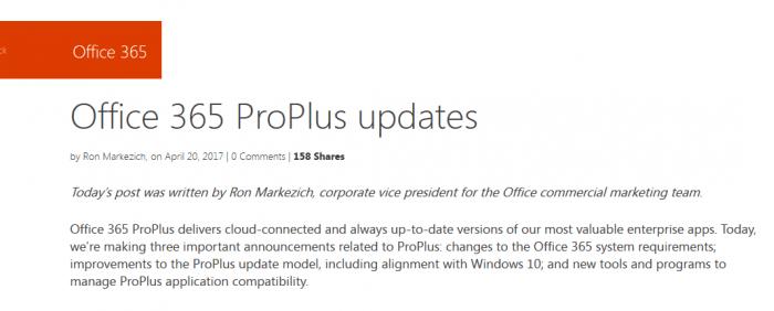 Office 365服务到2020年后将停止支持桌面版的照片 - 2