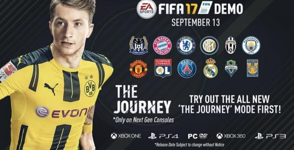 """带""""The Journey""""故事模式的FIFA 17试玩版即将上线的照片 - 1"""