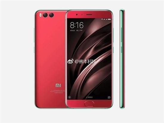 红色款小米手机6曝光 荧光绿边辣眼睛