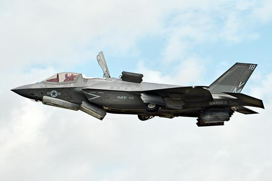美媒:美军F35B战斗机完成首次实战打击