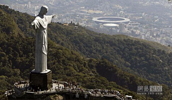 巴西耶稣神像-奥运设计行 第一站 巴西的设计也热情似火图片