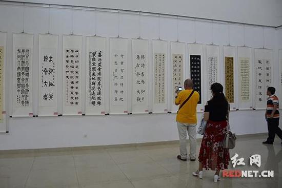 长沙市书协迎党的十九大书法作品展开幕