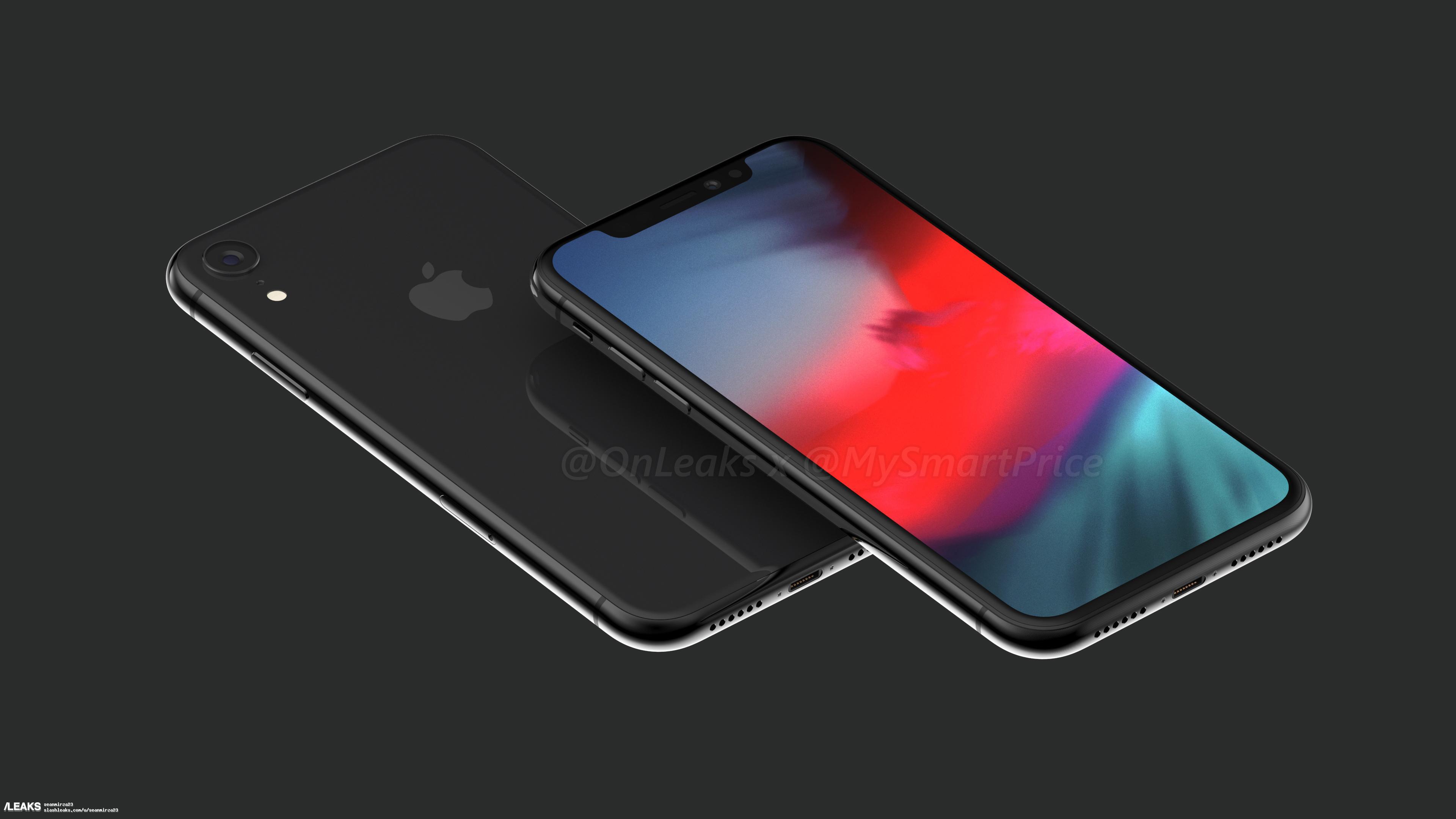 6.1英寸新iPhone渲染图:均有原深感摄像头