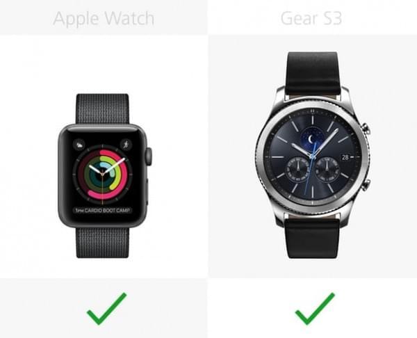Apple Watch Series 2和三星Gear S3规格参数对比的照片 - 19