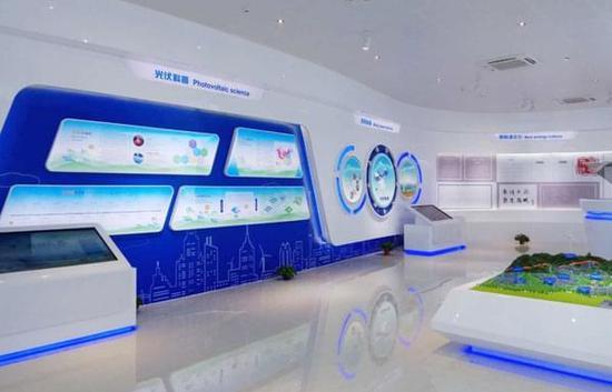智慧城市智能云 mcs云拼接成功运用于山西芮城新能源展厅图片