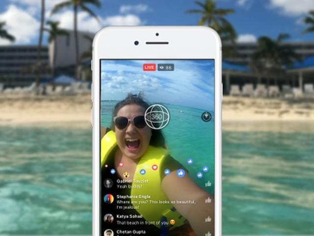 Facebook开放360度直播:所有用户都可使用