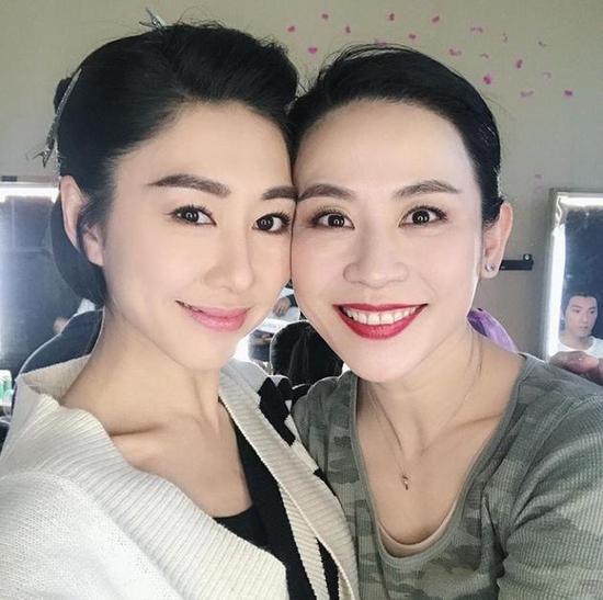 两TVB视后同框!宣萱探班胡定欣 被网友催再合作