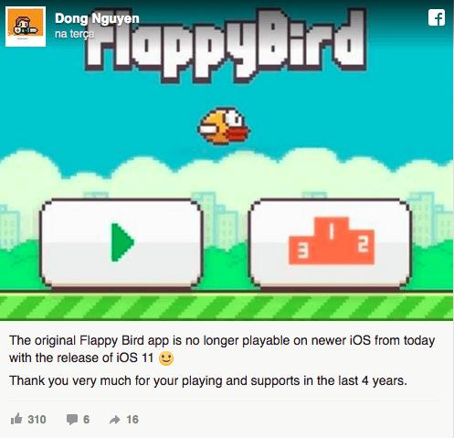 ��浣���浠���缁��存�帮�Flappy Bird��iOS 11姝e�姝讳骸