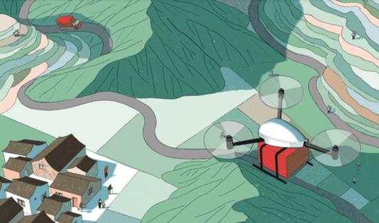 从村口小卖铺腾跃到无人机:电商这样改动中国农村 第1张