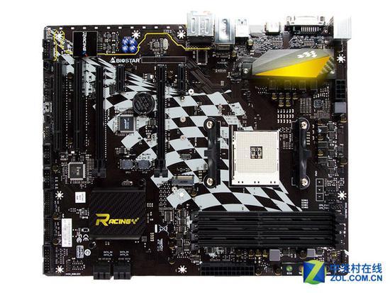 映泰B350GT5 映泰这款主板延续了Racing系列的赛车风,继续将优秀电竞和炫酷赛车融合到一起,这款主板采用了B350芯片组,支持AMD锐龙系列处理器超频操作,相对X370芯片组缺少了对显卡并联的支持。丰富的供电保障系统稳定运行。