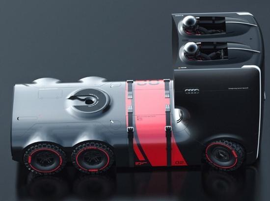 未来感十足的奥迪概念卡车的照片 - 6