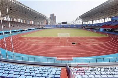 涪陵奥体中心体育场. 本报记者 高科 摄-市五运会首个项目今开战