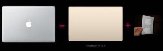 小米发布了两款笔记本 却火了苹果的贴纸的照片 - 5