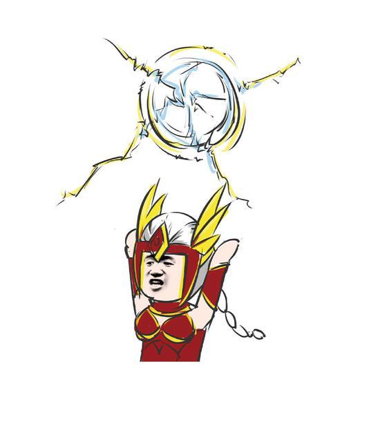 风暴英雄玩家画作:画风不太一样的亚马逊卡西娅