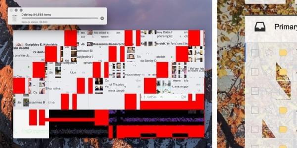 """部分用户称新MacBook Pro出现""""花屏""""情况的照片"""