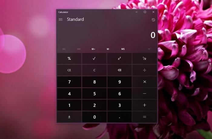 Windows 10计算器应用终于等到毛玻璃特效的照片 - 1