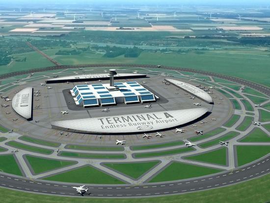 机场跑道都是直线 荷兰人脑洞大开:可以建圆形的的照片