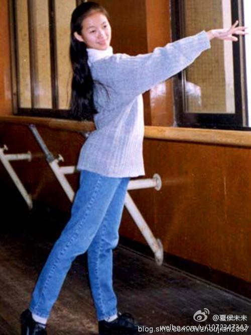 章子怡学生时代练舞